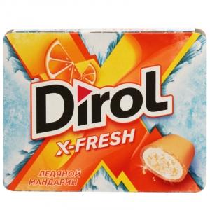 """Жевательная резинка """"Dirol X-Fresh"""" ледяной мандарин 16г."""