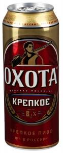 Пиво Охота крепкое ж.б. 0,45 л