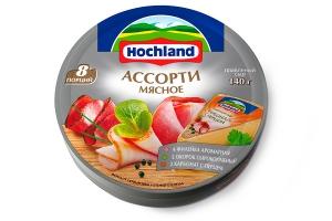 """Сыр плавленый """"Hochland"""" Ассорти мясное (Хохланд) 140 г"""