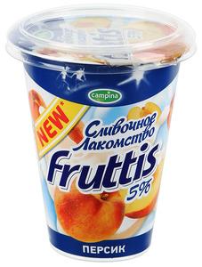 "Йогурт ""Фруттис Сливочное лакомство"" в ассортименте 5% 290 гр."