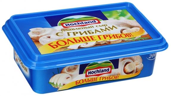 """Сыр плавленый """"Hochland"""" Хохланд с грибами 200г"""
