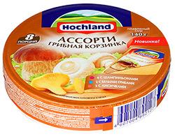 """Плавленый сыр """"Hochland"""" Грибная корзинка 140г"""
