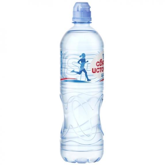 """Вода """"Святой источник спорт"""" негазированная пэт 0,75 л."""