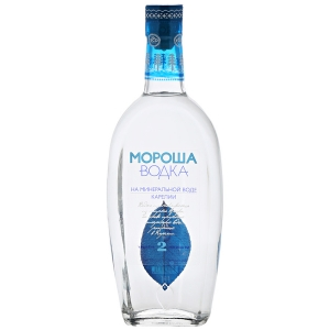"""Водка """"Мороша на минеральной воде Карелии. Уровень мягкости №2"""" 40% 0,5 л."""