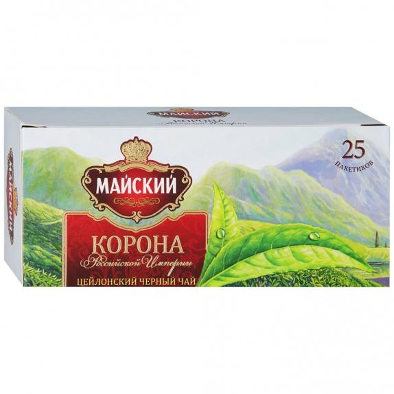 """Чай """"Майский"""" Корона Российской Империи чёрный 25*2"""