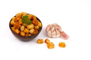 Сухарики со вкусом чеснока вес.
