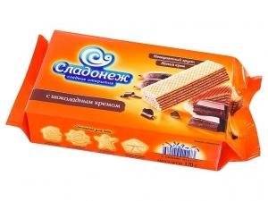 Вафли Сладонеж с шоколадным кремом 170г