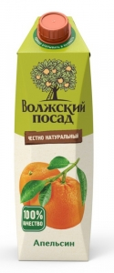 """Нектар """"Волжский посад"""" апельсиновый 1 л"""
