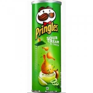 """Чипсы """"Принглс"""" сметана/зелень 165 гр."""