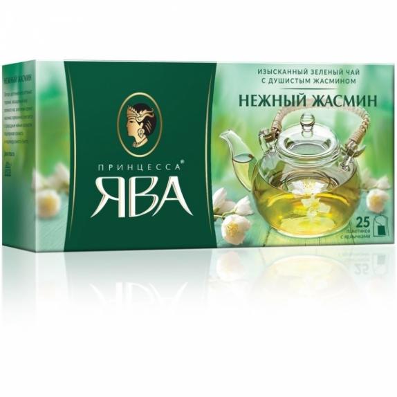 Чай Принцесса Ява зеленый Нежный Жасмин 25 пак.