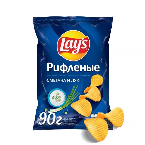 """Чипсы """"Лейс"""" сметана/лук 90 гр"""