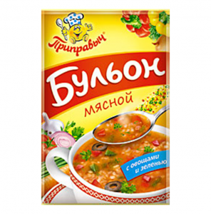 """Бульон мясной """"Приправыч"""" с овощами и зеленью 75 гр."""