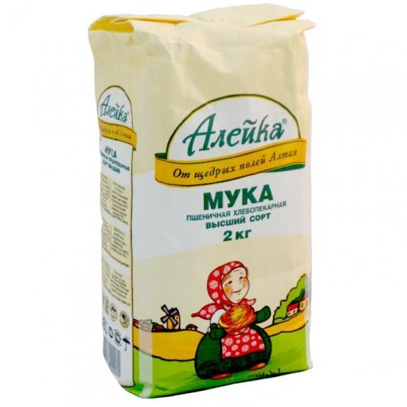 Мука Алейка пшеничная высший сорт 2 кг
