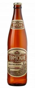 """Пиво """"Томское фирменное"""" светлое фильтрованное 4,0% с/б 0,5 л."""