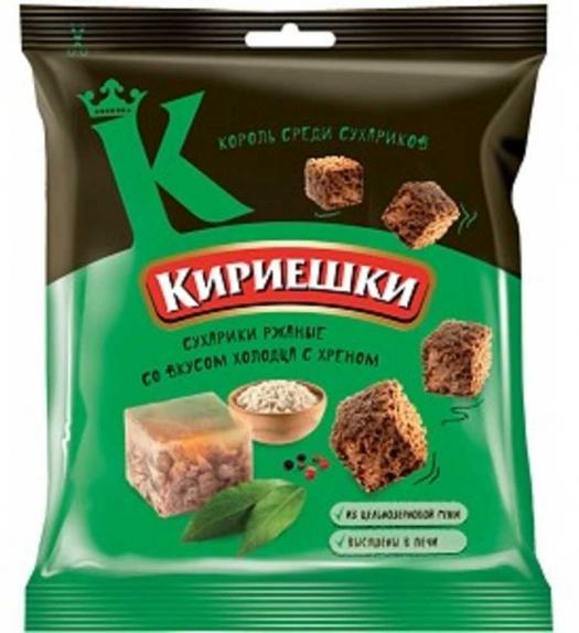 """Сухарики """"Кириешки"""" холодец/хрен 40 гр."""