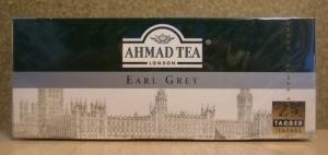 "Чай ""Ahmad Tea"" Earl Grey чёрный с ароматом бергамота в пакетиках 25 Х 2 г"