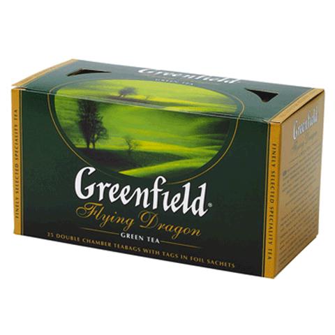 """Чай """"Greenfield""""  зелёный в пакетиках 25 х 2 г"""