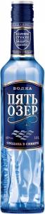 """Водка """"Пять озёр"""" 40% ООО """"Омсквинпром"""" (1 л)"""