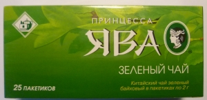 "Чай ""ЯВА"" зелёный в пакетиках 25 Х 2 гр."