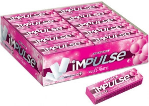 """Жевательная резинка """"Impulse"""" мульти-фрут 14 гр."""