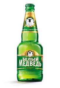 """Пиво """"Белый Медведь"""" Светлое 5,0% (бут. 0,45 л)"""
