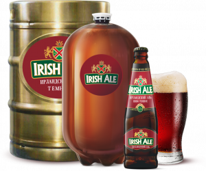 """Пиво """"Ирландский эль"""" темное фильтрованное с/б 0,5 л."""