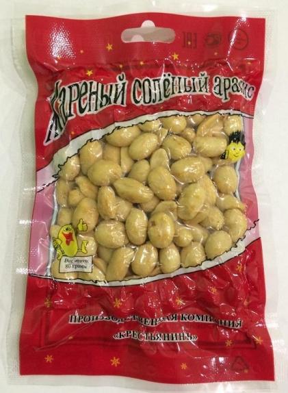 Жареный солёный арахис со вкусом чеснок Jinhua Food в вакуумной упаковке, 70гр