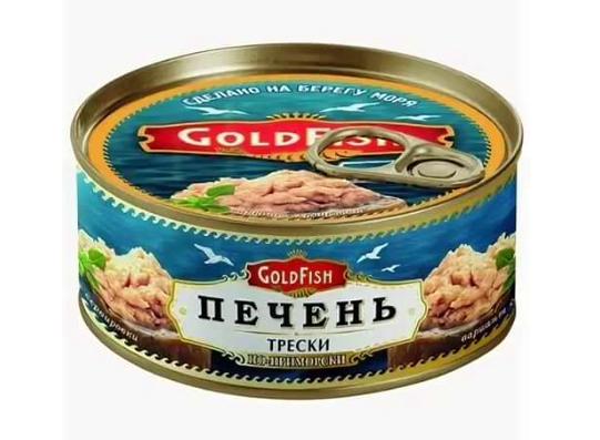 """Печень трески по-приморски """"ГолдФиш"""" 120 г ж/б"""