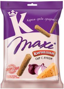 """Сухарики """"Кириешки"""" Maxi с сыром и луком 60гр"""