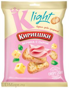 """Сухарики """"Кириешки Light"""" ветчина 80 гр."""