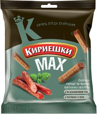 """Сухарики """"Кириешки"""" охотничьи колбаски 40 гр."""