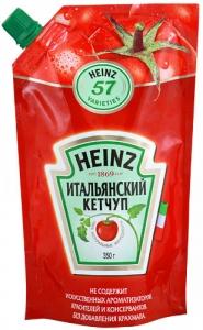 """Кетчуп """"Хайнц"""" В ассортименте (Для гриля и шашлыка, Итальянский, Острый, Томатный) 350 гр."""