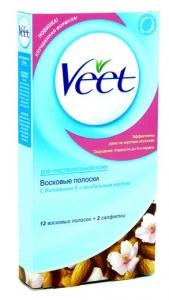 """Восковые полоски для депиляции """"Veet"""" (вит) 12шт"""