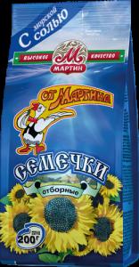 Семечки с солью «ОТ МАРТИНА» 200 гр.