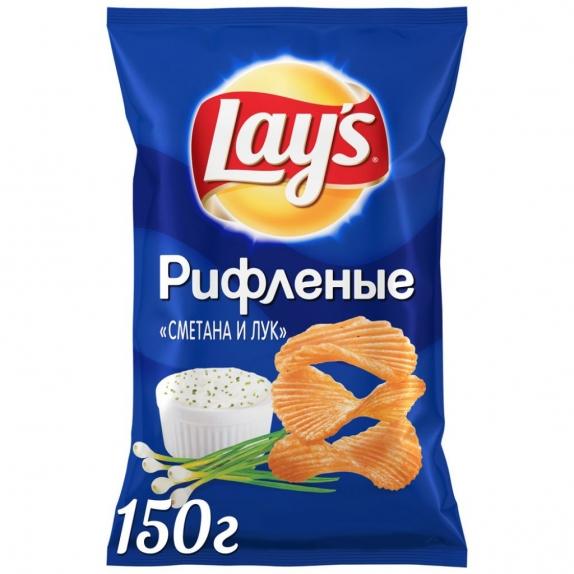 """Чипсы """"Лейс"""" сметана/лук 150 гр."""