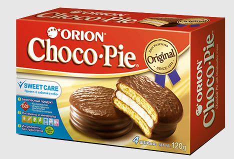 """Кондитерское изделие """"Choco Pie"""" 4 шт. (Чоко Пай) 120 г"""