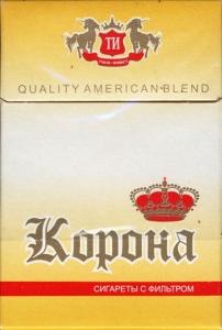 """Табачный набор сигареты с фильтром """"Корона"""" и спички"""