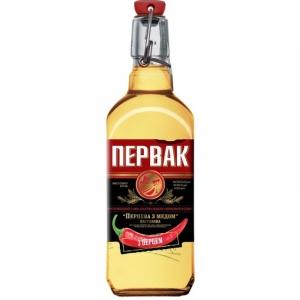 Настойка горькая «Первак Домашний перцовый с медом» 40% 0,5 л.