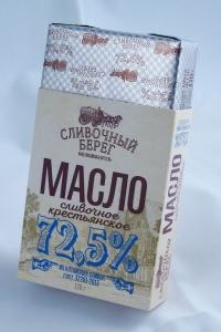 """Масло сливочное  """"Сливочный берег"""" 72,5% 170гр."""
