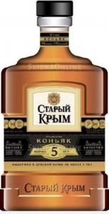 """Коньяк Российский """"Старый Крым"""" пятилетний 40% 0,5 л."""