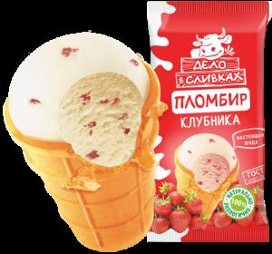 """Мороженое """"Дело в сливках"""" с ягодной клубникой 70гр."""