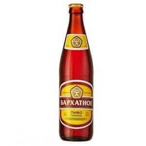 """Пиво """"Бархатное"""" темное фильтрованное 4,1% с/б 0,5 л."""
