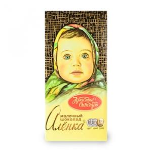 """Молочный шоколад """" Аленка"""" 100гр."""