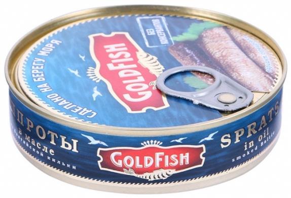 """Шпроты в масле из балтийской кильки """"GoldFish"""" с ключом 160 гр."""