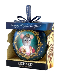 "Чай ""Richard"" Year of the royal mouse мышь жесть. черный лист.круп. 20 гр."