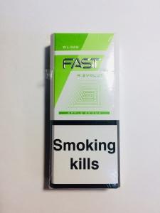 "Табачный набор сигареты ""Fast Slims Apple Aroma"" и спички"