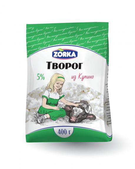 """Творог """"Купино"""" 5% 400 гр. пакет"""