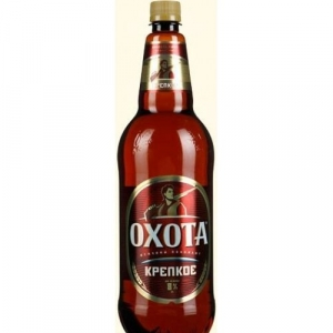 """Пиво """"Охота"""" крепкое (ПЭТ 1,35л)"""