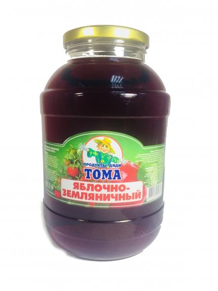"""Сок """"Тома"""" яблочно-земляничный 2л с/б"""