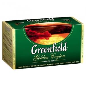 """Чай """"Greenfield"""" Golden Ceilon черный в пакетиках 25 х 2 г"""